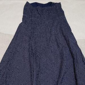 J.Crew - Navy & White small Polka Dot print Dress